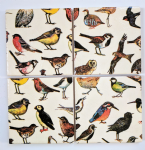 4 Ceramic Coasters in Emma Bridgewater Garden Birds
